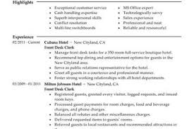 Front Desk Receptionist Resume Sample by Resume Sample Of Hotel Front Desk Clerk Templates