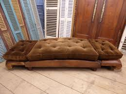 impressive vintage leather club french sofa day bed sold the