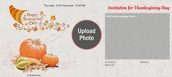 free thanksgiving invitation card invitations