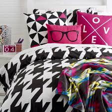 Houndstooth Comforter Bedroom Interesting Pattern Twin Xl Comforter Sets Decor With