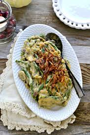 healthy green bean casserole fork and beans