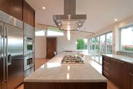 interior modern vent hood with grey stainless design on the top