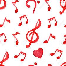 imagenes de notas rojas notas rojas agudos clave de fa amor música vector sin patrón