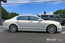white bentley flying spur bentley flying spur with 22in savini sv66c wheels exclusively from