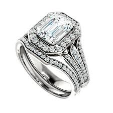 diamond wedding sets 1 50 ct forever brilliant moissanite diamond wedding set