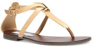 Steve Madden White Wedges Steve Madden Kween Flat Thong Sandals In Natural Lyst