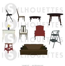 household furniture silhouette vector clipart of household furniture by jr 6