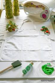 diy crafts ideas christmas tree handprint apron all you need is