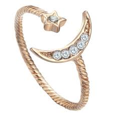 kinitial wholesale crescent moon and ring moonstone sailor