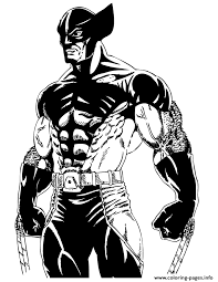 cool wolverine men comic coloring pages printable