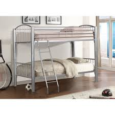 Metal Bunk Bed Frame 3 Metal Bunk Bed In Silver