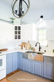 painting kitchen cabinets tutorial how to paint kitchen cabinets without sanding sustain my