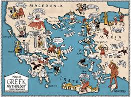 Map Of Ancient Greece by Map Of Greek Mythology Hazel Newlevant