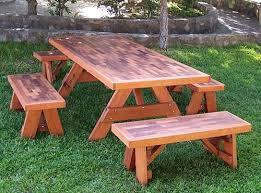 redwood park bench custom outdoor wooden bench