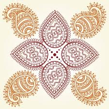 abstract hindu ornament vector free