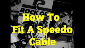how to fit a speedo cable on your motorbike motorcycle youtube