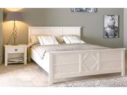 chambre chene blanchi lit blanka 140x190cm finition chêne blanchi panneau