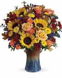 awesome country sunflowers bouquet like a peaceful walk through the