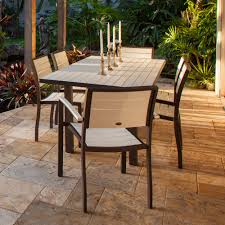 7 Piece Patio Dining Sets - furniture yellow outdoor dining set by polywood furniture for