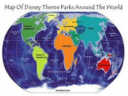 map of disney theme parks around the world ppt