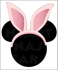 mickey mouse pink easter bunny ears instant download digital