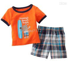 boys summer suits cotton tracksuits sets t shirts