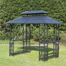 backyard creations steel roof grill gazebo at menards