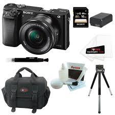 sony a6000 black friday deals sony alpha a6000 camera bundle w 16 50 lens 16gb sony sdhc card