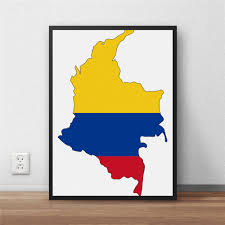 online buy wholesale colombia decoration from china colombia colombia flag modern coated poster home decoration painting library country world map cafe restaurant wall art