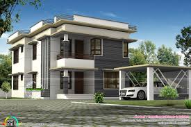 home building plans separate car porch flat roof home kerala design floor plans home