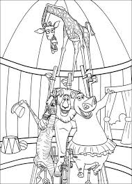 circus coloring pages printable coloring page madagascar 3 alex marty gloria and melman