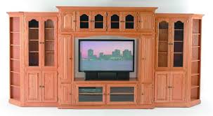 amish rollaway tv stand with two glass doors