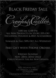 crooks and castles black friday crooks u0026 castles black friday sale freshness mag