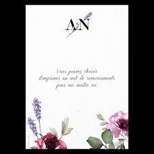 mot carte mariage carte de remerciements de mariage fleurs de provence