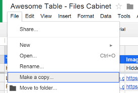 files cabinet by awesome table files cabinet view list files from drive with awesome table