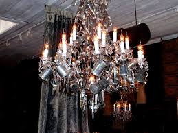 Industrial Crystal Chandelier Vintage Industrial Lighting Chandelier Hudson Goods Blog