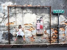 wall art in penang wall art in penang famous street art mural in georgetown penang malaysia stock photo 30671547