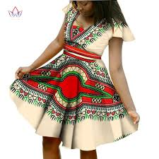 bazin riche african dress print dresses with scarf short sleeve