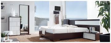 captivating modern bedroom furniture design with dark wooden bed