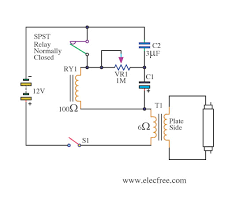 12v fluorescent lamp flashing circuit u2013 electronic projects circuits