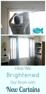 how we brightened our room with new curtains