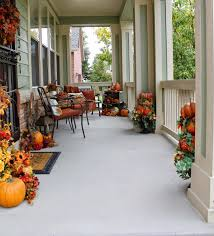 decorating a small front stoop for fall house by hoff dining room