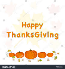 happy thanksgiving day celebrations greeting card stock vector
