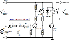 automatic windshield washer control circuit diagram