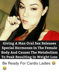 Cardio Meme - giving a man oral sex releases special hormones in the female body