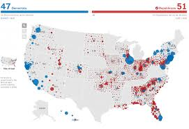 1996 Presidential Election Map by 2016 Senate Map Political Maps