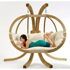 Swing Chair With Stand Globo Swing Hanging Chair Natural White With Soft Cushion