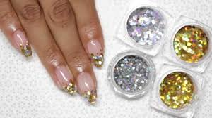 encapsulated glitter easy gel nail art tutorial youtube