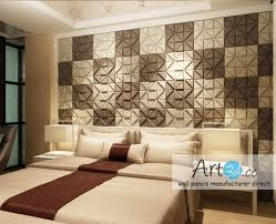 ceiling wall design ideas with faux leather wall tiles modern