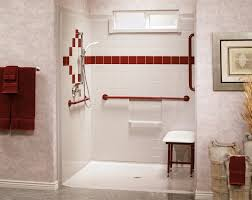 fiberglass roll in showers aging in place remodeling